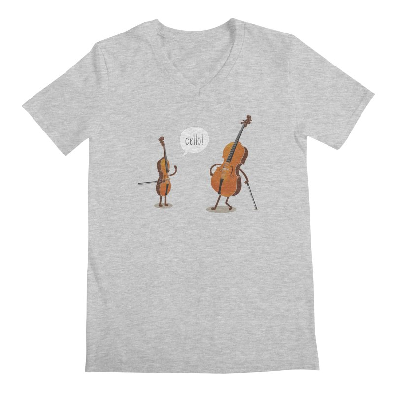 Cello! Men's V-Neck by Threadless T-shirt Artist Shop - Melmike - Michael