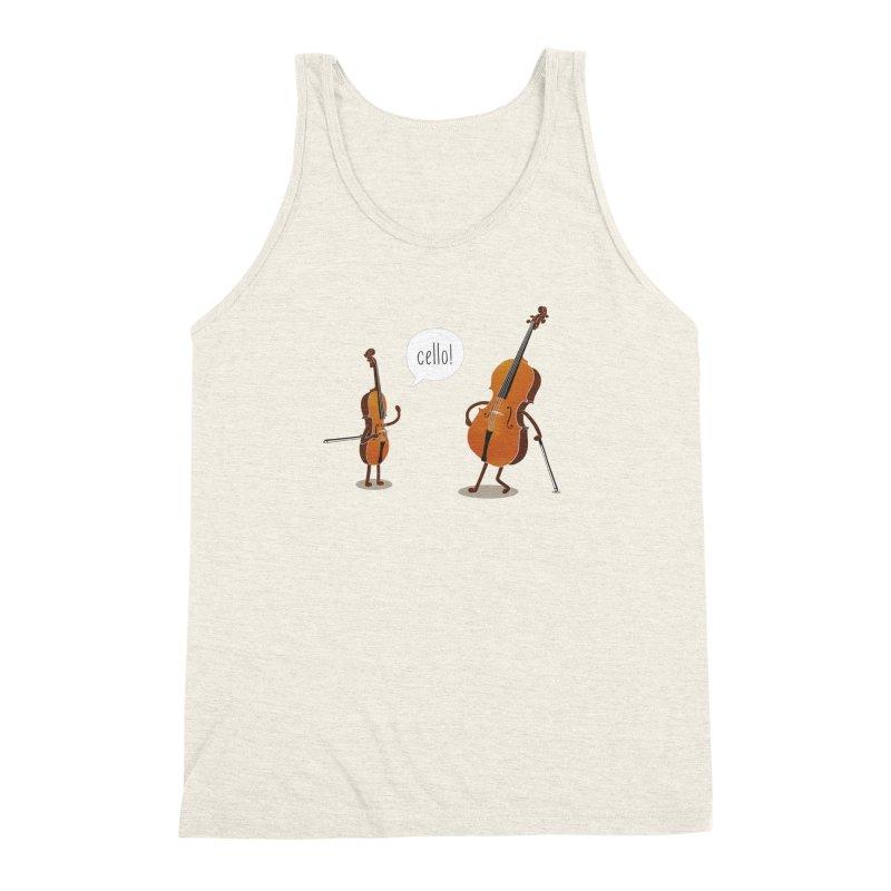 Cello! Men's Triblend Tank by Threadless T-shirt Artist Shop - Melmike - Michael