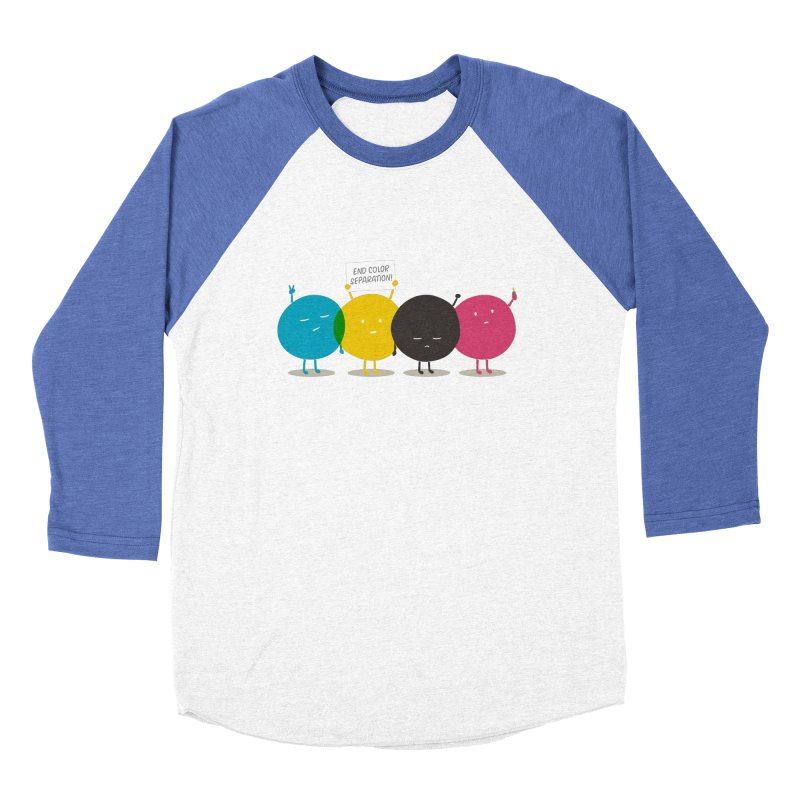 End Color Separation Men's Baseball Triblend T-Shirt by Threadless T-shirt Artist Shop - Melmike - Michael