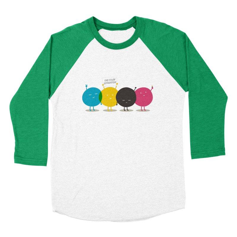 End Color Separation Men's Baseball Triblend T-Shirt by Threadless T-shirt Artist Shop - Melmike - Michael