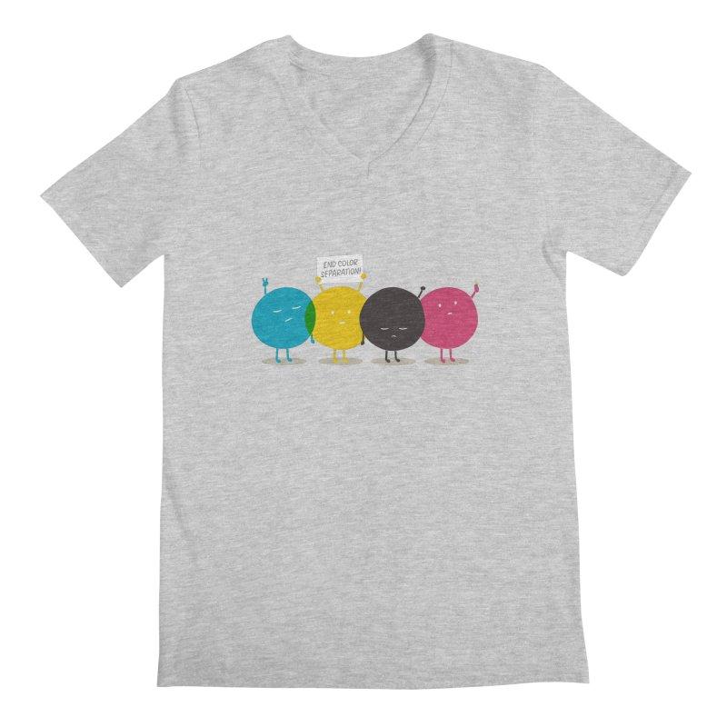 End Color Separation Men's V-Neck by Threadless T-shirt Artist Shop - Melmike - Michael