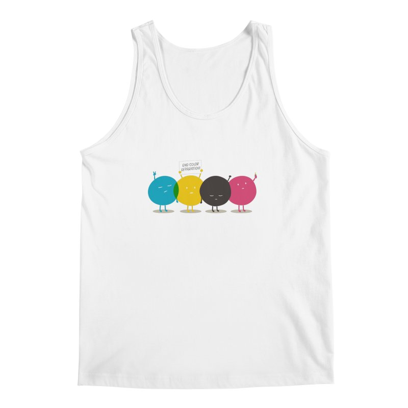 End Color Separation Men's Tank by Threadless T-shirt Artist Shop - Melmike - Michael