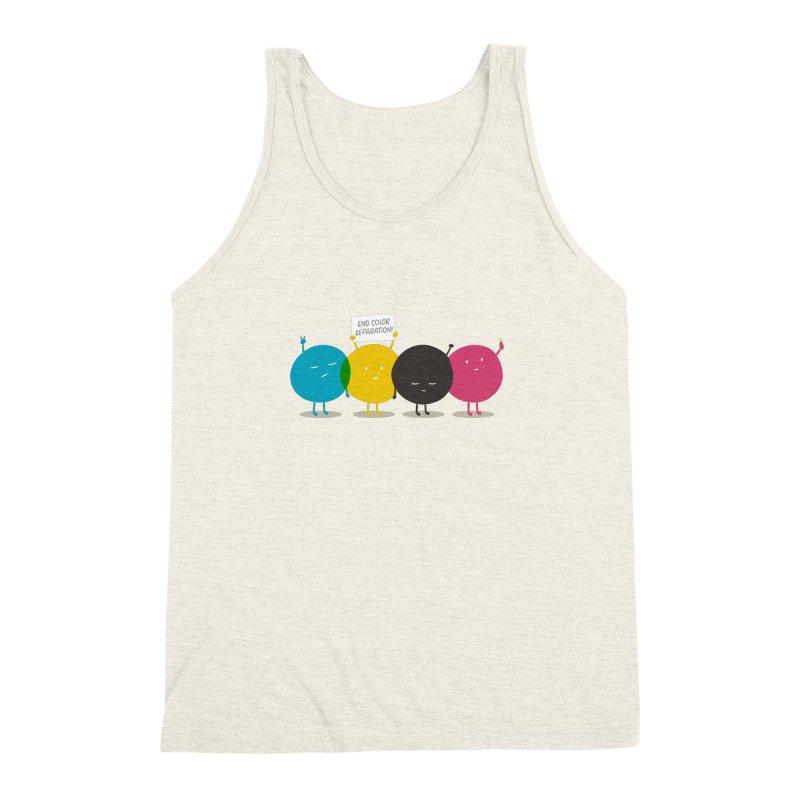 End Color Separation Men's Triblend Tank by Threadless T-shirt Artist Shop - Melmike - Michael