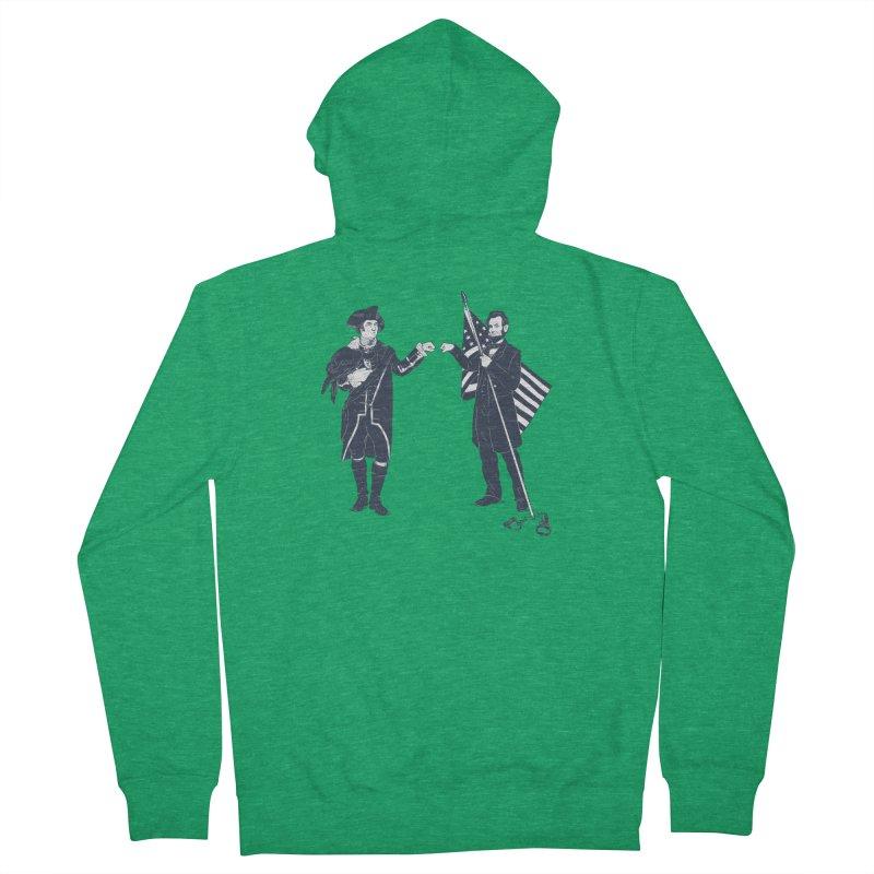 Fist Bump For Liberty Men's Zip-Up Hoody by Threadless T-shirt Artist Shop - Melmike - Michael