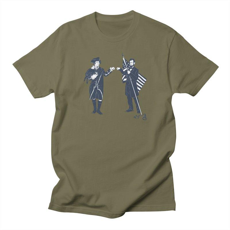 Fist Bump For Liberty Men's Regular T-Shirt by Threadless T-shirt Artist Shop - Melmike - Michael