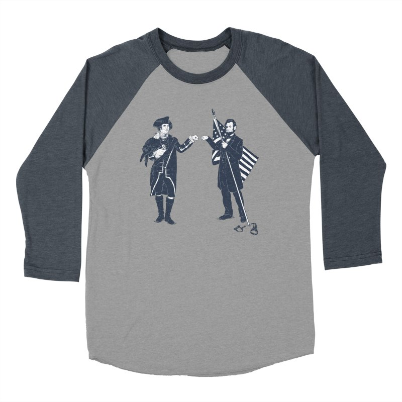 Fist Bump For Liberty Men's Baseball Triblend T-Shirt by Threadless T-shirt Artist Shop - Melmike - Michael