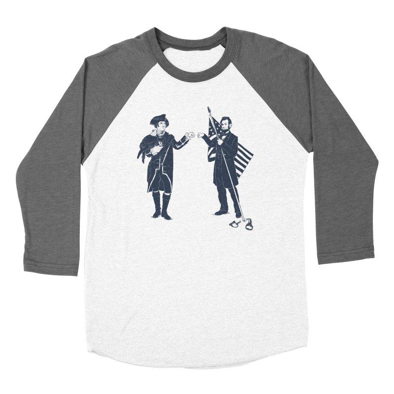 Fist Bump For Liberty Men's Baseball Triblend T-Shirt by Threadless T-shirt Artist Shop - Melmike - Michael