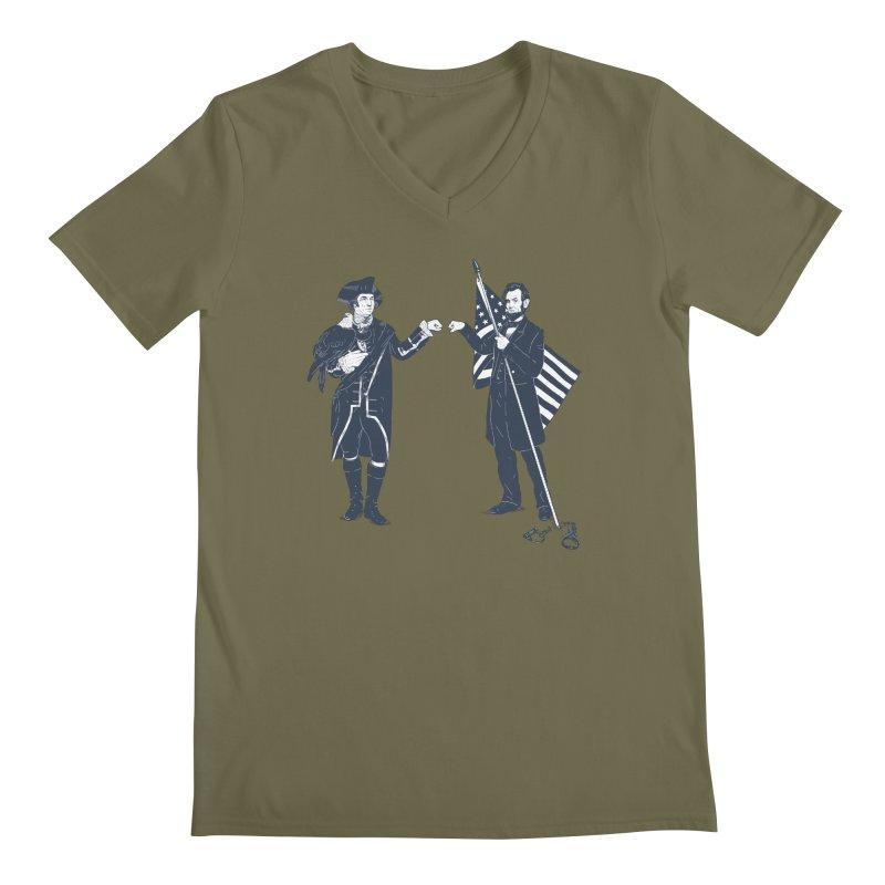 Fist Bump For Liberty Men's V-Neck by Threadless T-shirt Artist Shop - Melmike - Michael