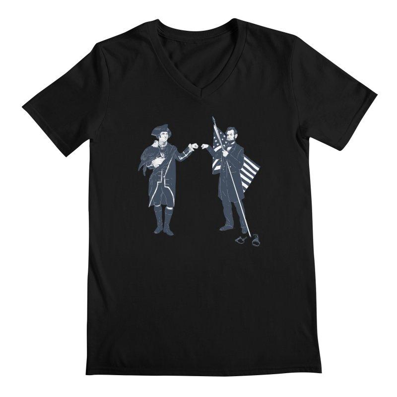 Fist Bump For Liberty Men's Regular V-Neck by Threadless T-shirt Artist Shop - Melmike - Michael