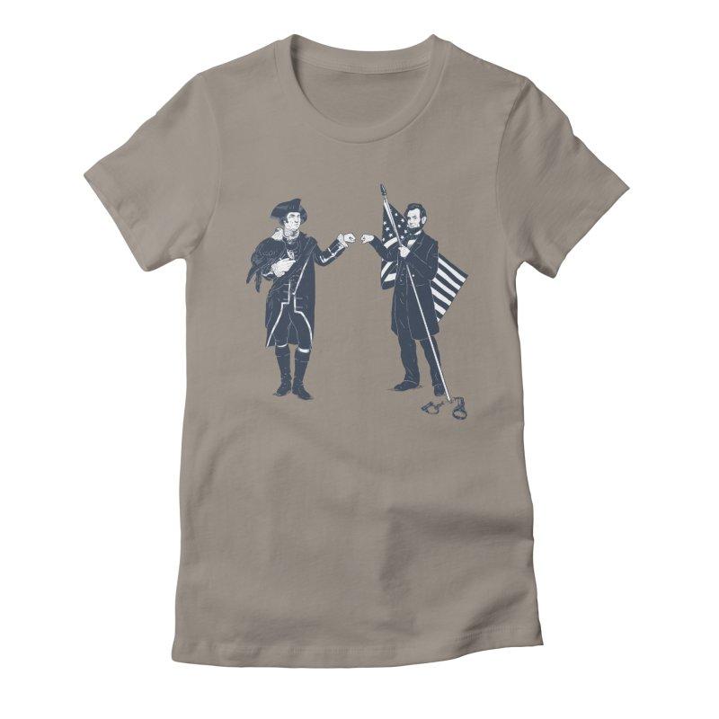 Fist Bump For Liberty Women's Fitted T-Shirt by Threadless T-shirt Artist Shop - Melmike - Michael