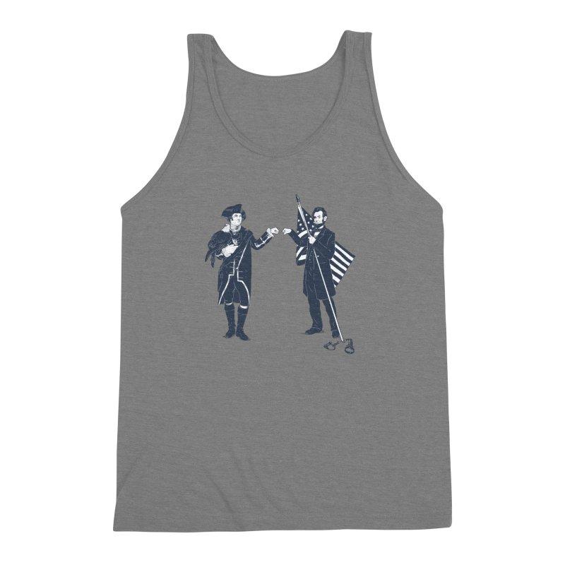 Fist Bump For Liberty Men's Triblend Tank by Threadless T-shirt Artist Shop - Melmike - Michael