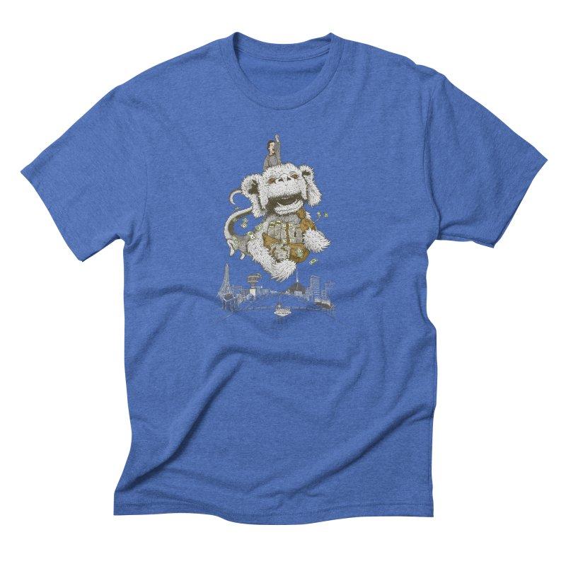 Luck Dragon Men's Triblend T-shirt by Threadless T-shirt Artist Shop - Melmike - Michael