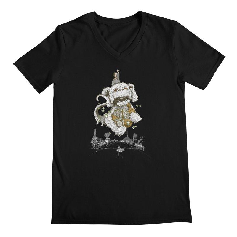 Luck Dragon Men's V-Neck by Threadless T-shirt Artist Shop - Melmike - Michael