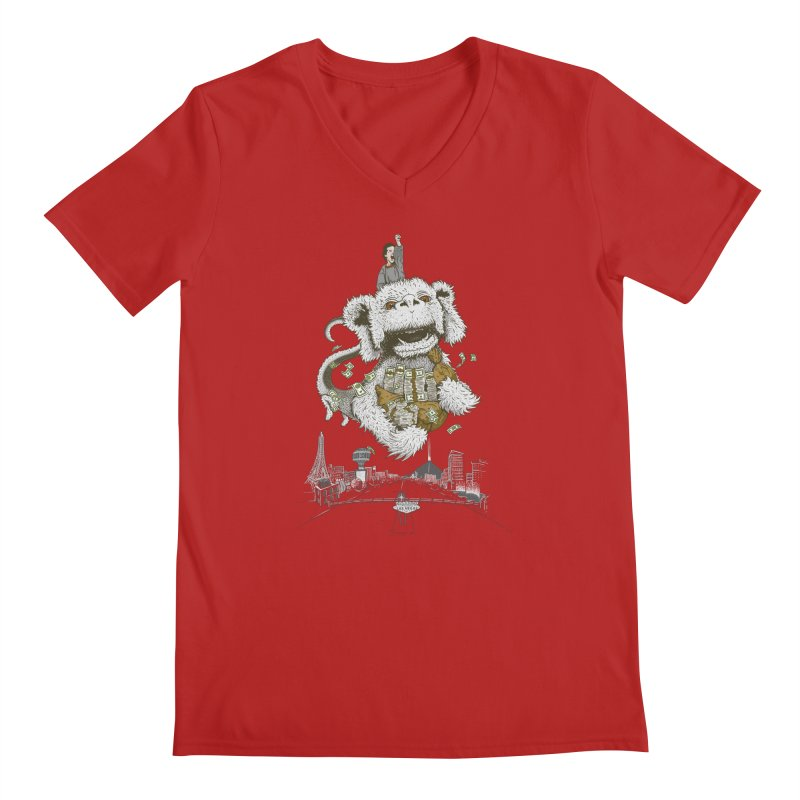 Luck Dragon Men's V-Neck by Threadless T-shirt Artist Shop - Melmike - Michael