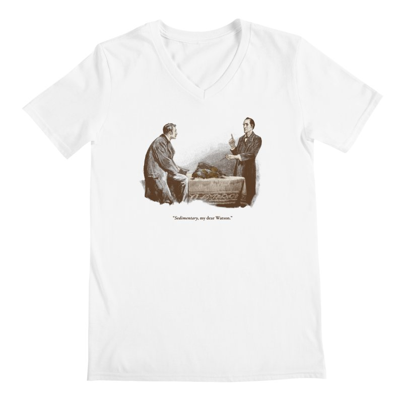 Sedimentary, My Dear Watson Men's V-Neck by Threadless T-shirt Artist Shop - Melmike - Michael