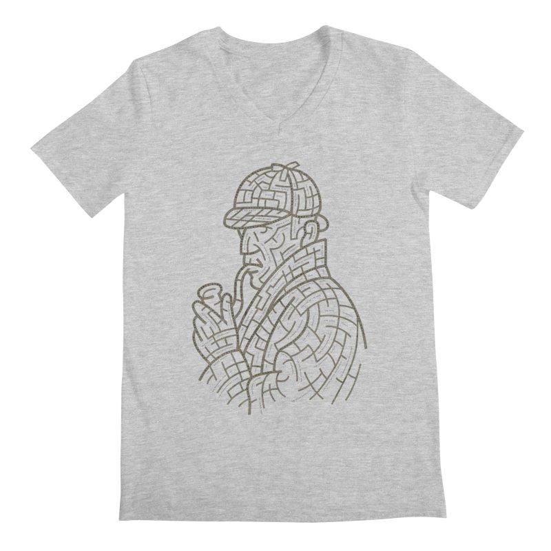 Sherlock's Map Men's Regular V-Neck by Threadless T-shirt Artist Shop - Melmike - Michael