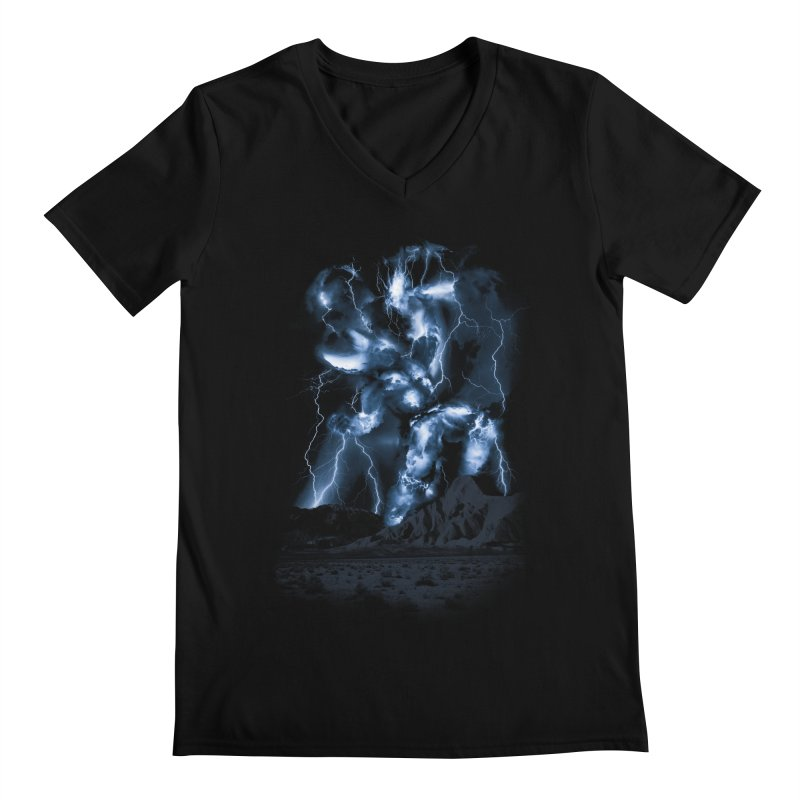 Skyfather Rising Men's V-Neck by Threadless T-shirt Artist Shop - Melmike - Michael