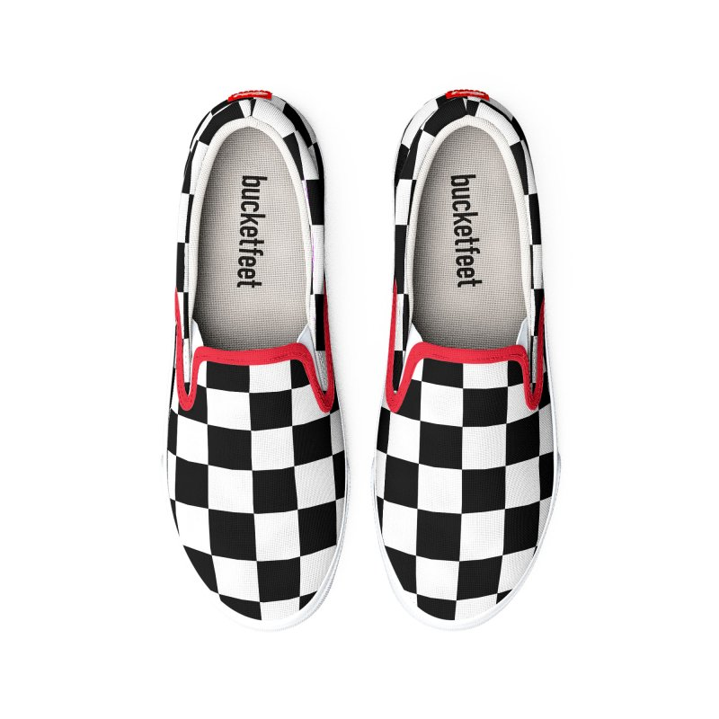 Checkered Out Men's Shoes by MELOGRAPHICS