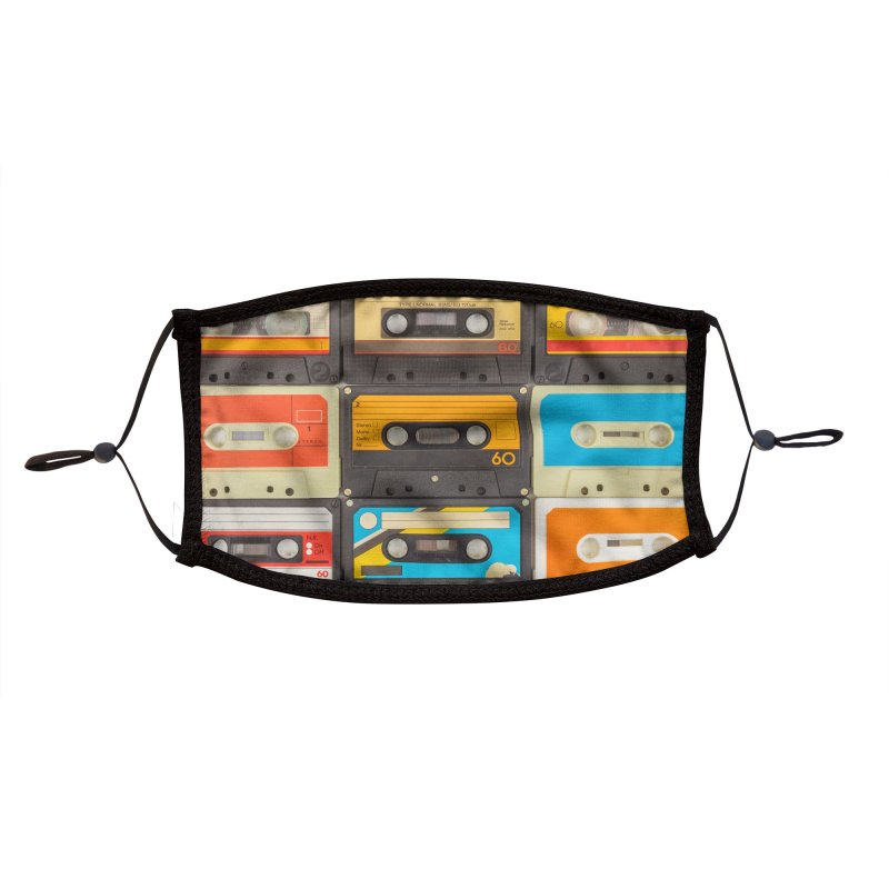 Favorite Mixtape Accessories Face Mask by MELOGRAPHICS