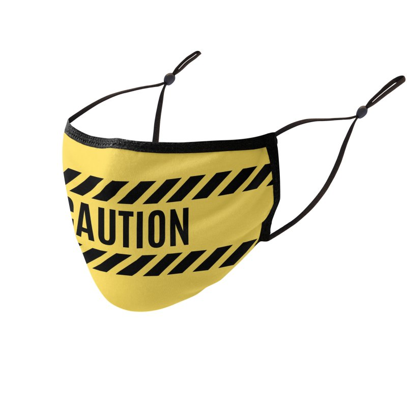 Caution Tape Warning Accessories Face Mask by MELOGRAPHICS