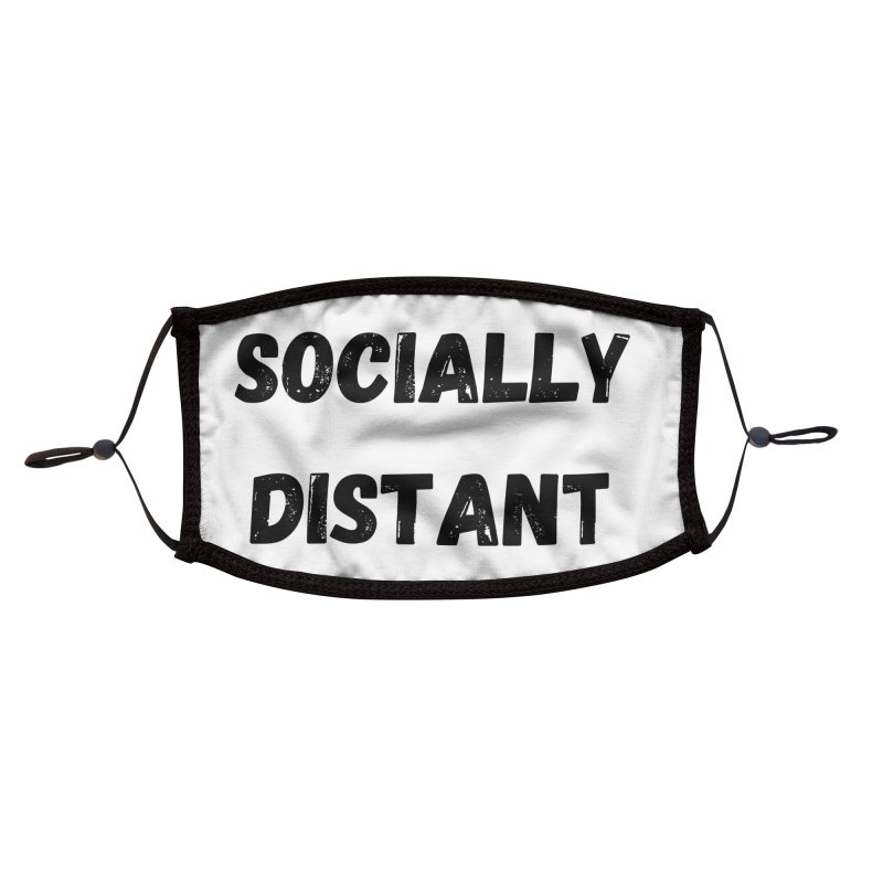 Socially Distant Accessories Face Mask by MELOGRAPHICS