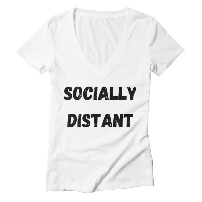 Socially Distant Women's V-Neck by MELOGRAPHICS