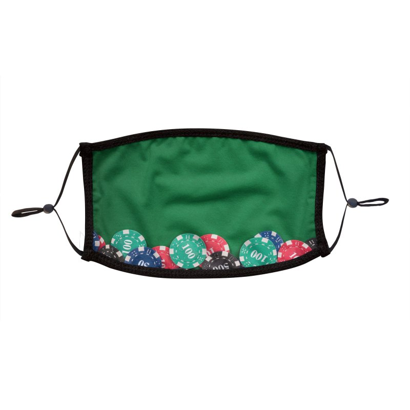 All-in Poker Chips Accessories Face Mask by MELOGRAPHICS