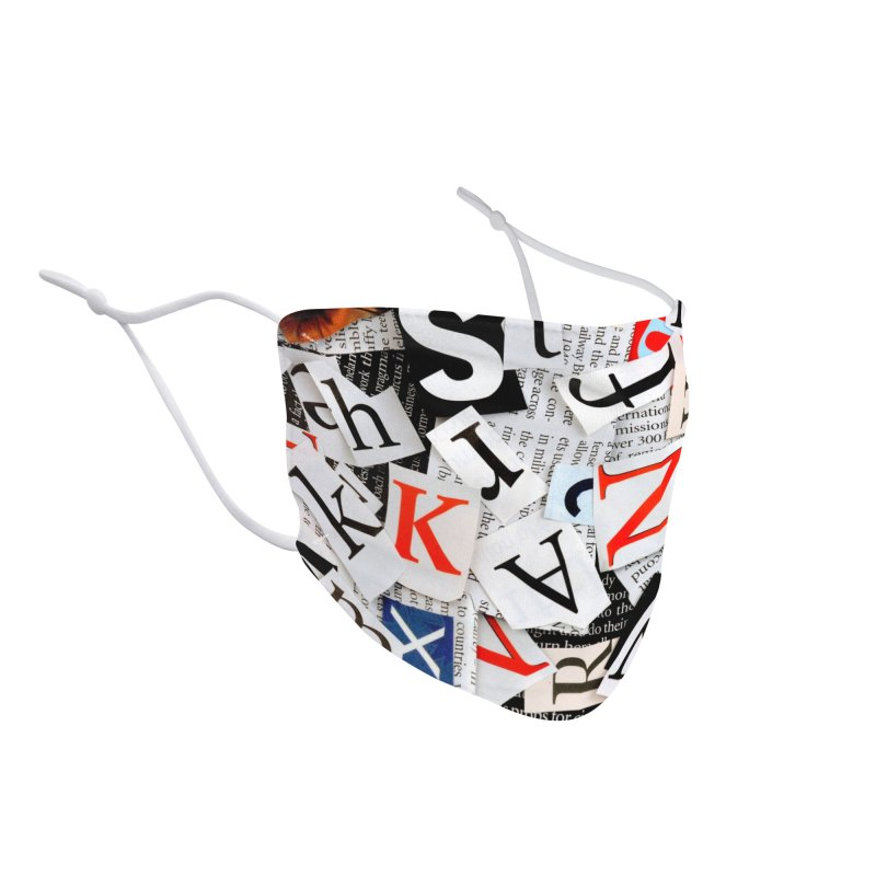 Newspaper Clippings Accessories Face Mask by MELOGRAPHICS