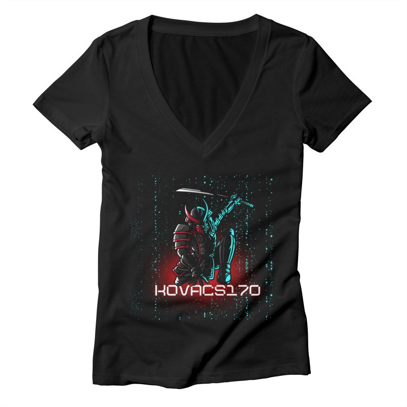 KoVacs170 | Square Up Women's V-Neck by MELOGRAPHICS