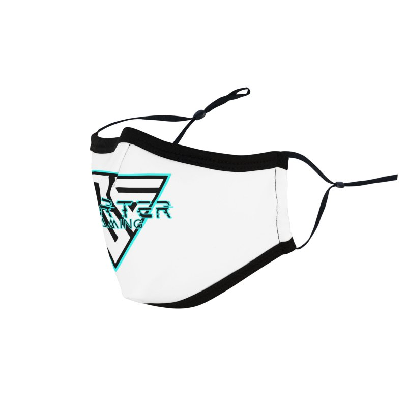 Carter Gaming | Teal Accessories Face Mask by MELOGRAPHICS