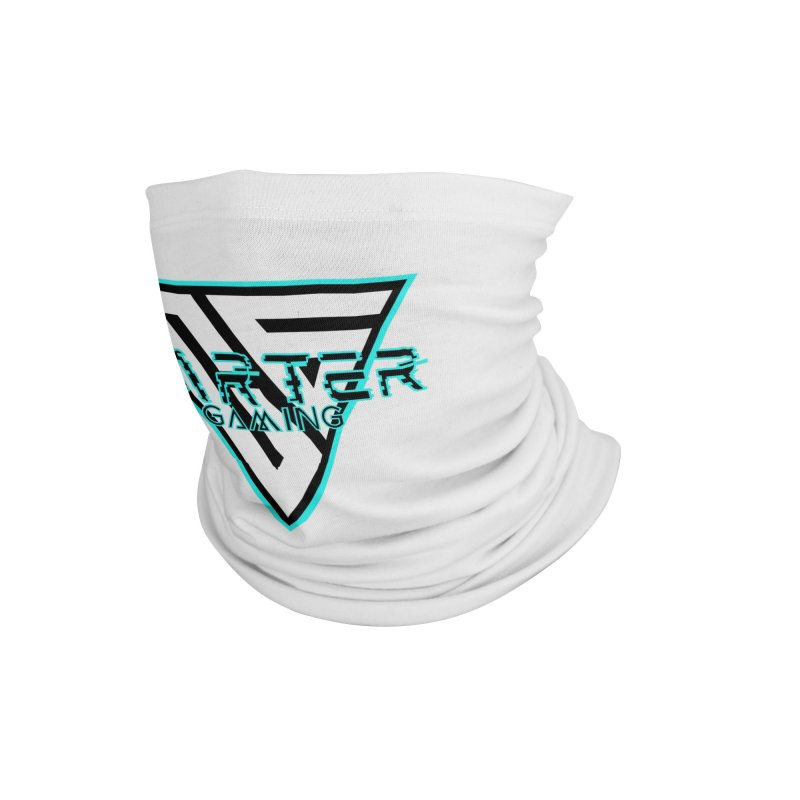 Carter Gaming   Teal Accessories Neck Gaiter by MELOGRAPHICS