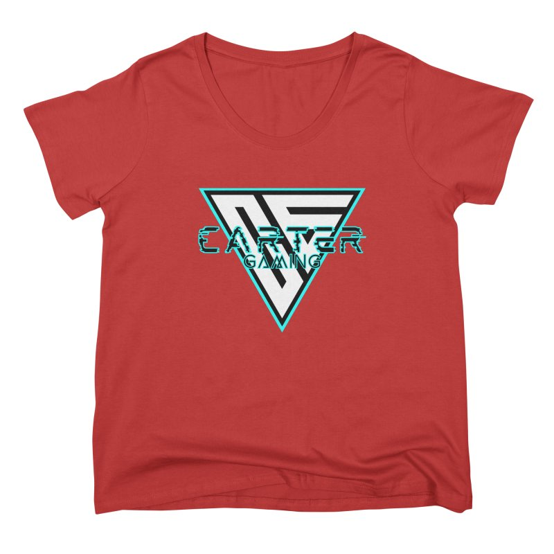Carter Gaming | Teal Women's Scoop Neck by MELOGRAPHICS