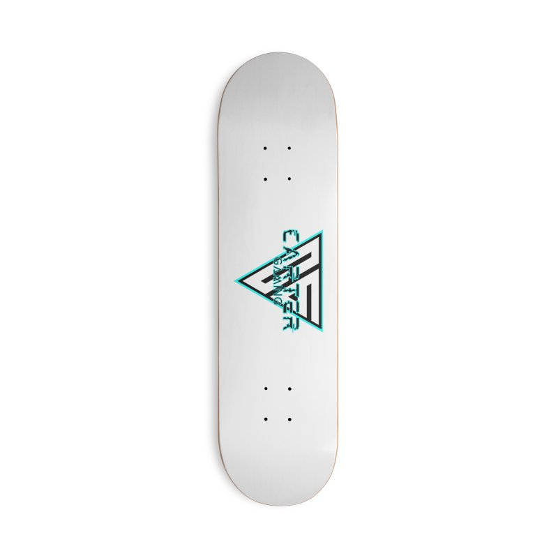 Carter Gaming   Teal Accessories Skateboard by MELOGRAPHICS