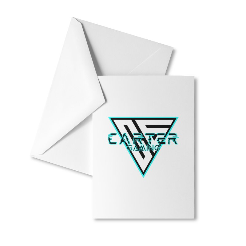 Carter Gaming   Teal Accessories Greeting Card by MELOGRAPHICS