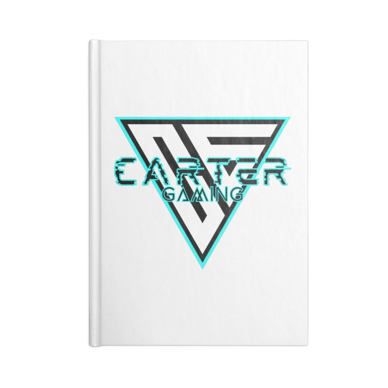 Carter Gaming   Teal Accessories Notebook by MELOGRAPHICS