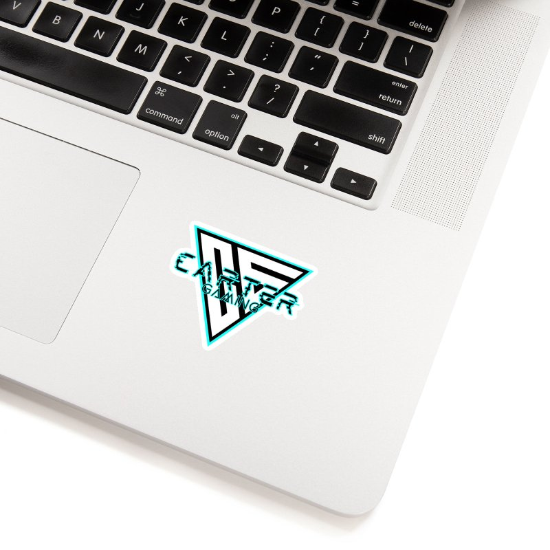 Carter Gaming | Teal Accessories Sticker by MELOGRAPHICS