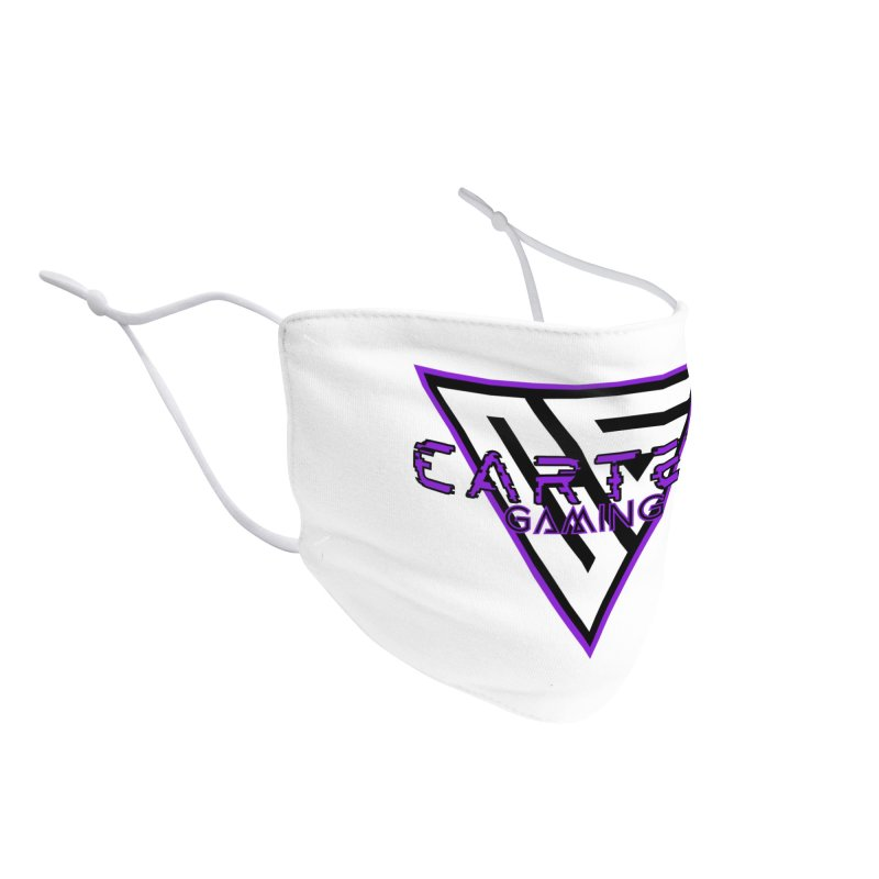 Carter Gaming | Purple Accessories Face Mask by MELOGRAPHICS