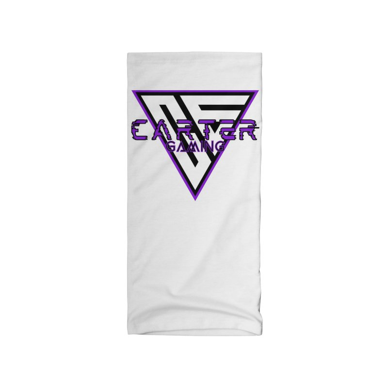 Carter Gaming   Purple Accessories Neck Gaiter by MELOGRAPHICS