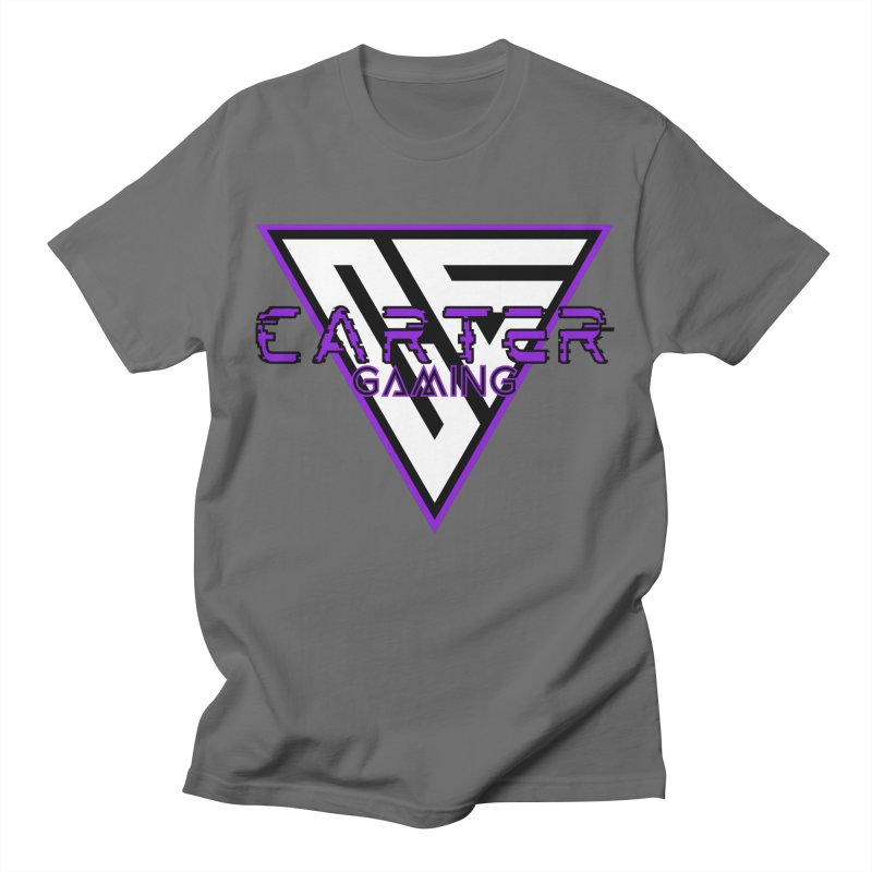 Carter Gaming | Purple Men's T-Shirt by MELOGRAPHICS