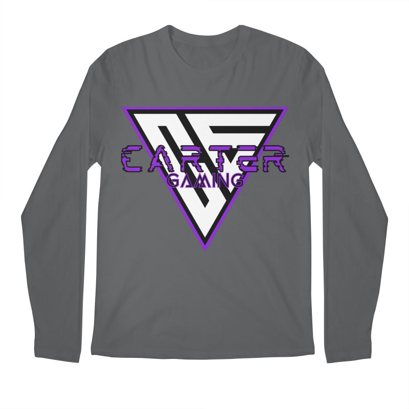 Carter Gaming | Purple Men's Longsleeve T-Shirt by MELOGRAPHICS