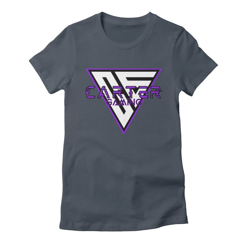 Carter Gaming | Purple Women's T-Shirt by MELOGRAPHICS