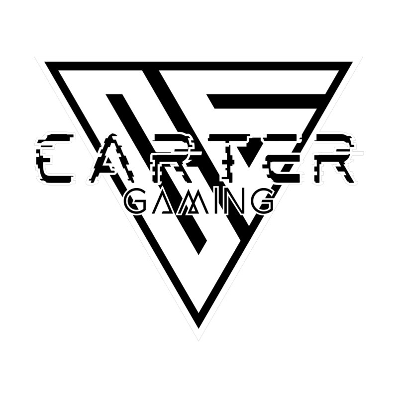 Carter Gaming | Black & White Men's T-Shirt by MELOGRAPHICS