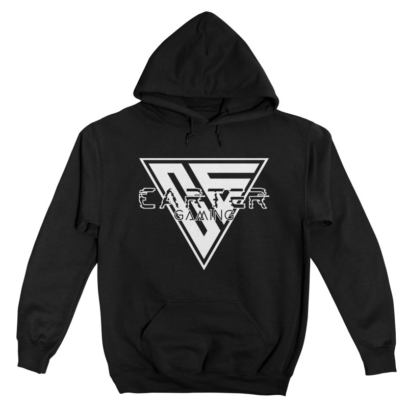 Carter Gaming   Black & White Women's Pullover Hoody by MELOGRAPHICS