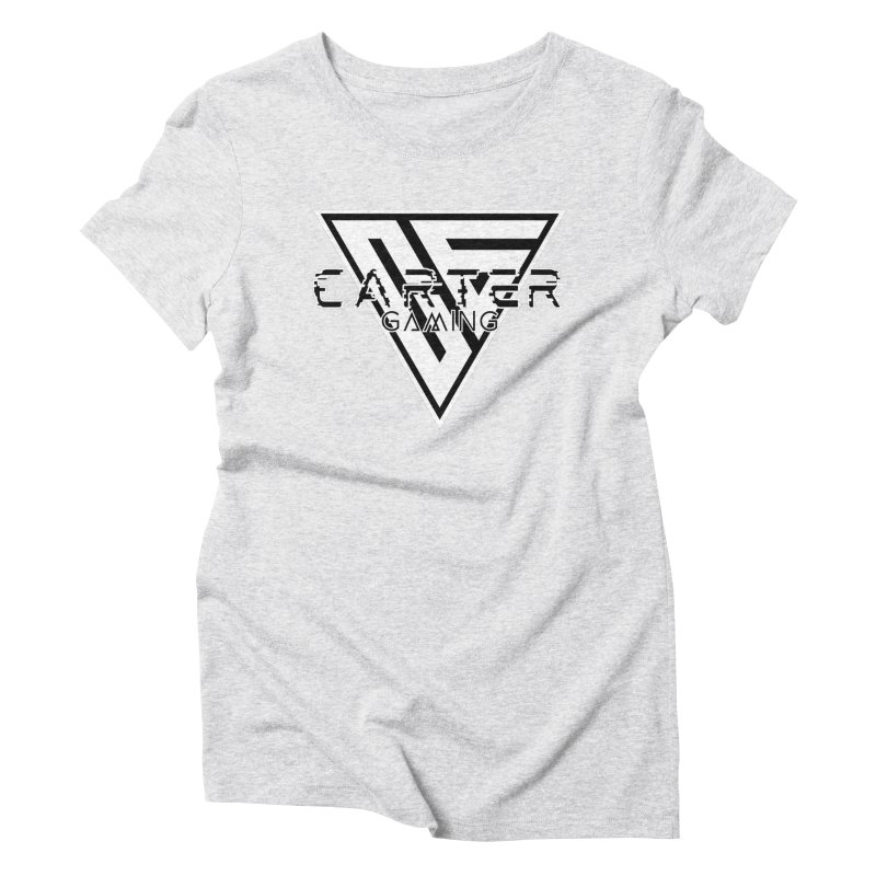Carter Gaming | Black & White Women's T-Shirt by MELOGRAPHICS