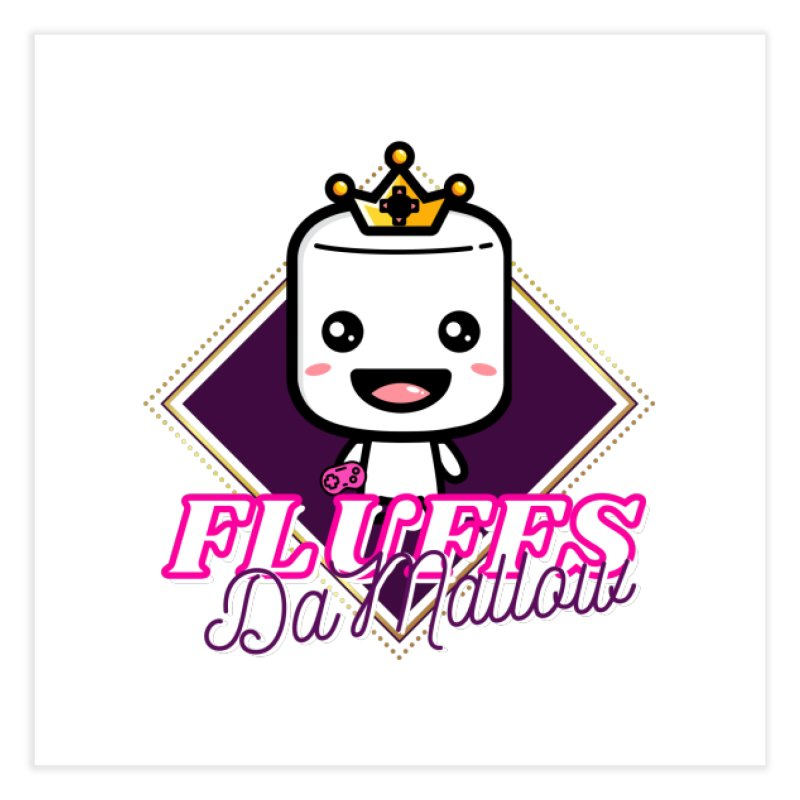 FluffsDaMallow - Diamond | Carter Gaming Home Fine Art Print by MELOGRAPHICS