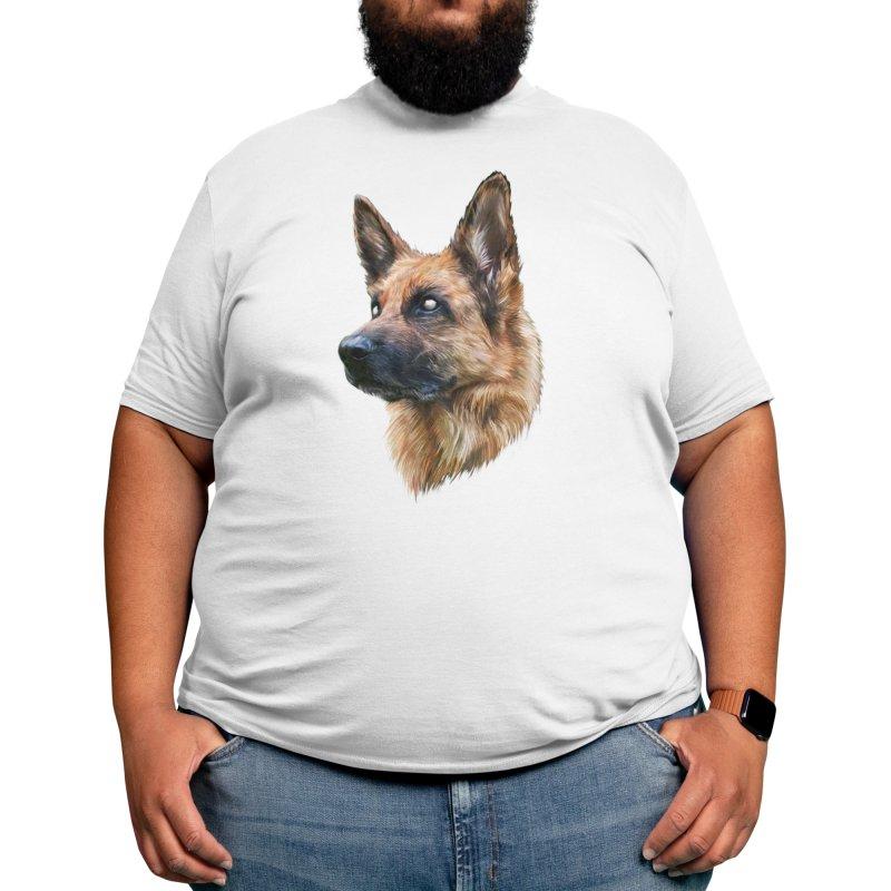 GERMAN SHEPHERD Men's T-Shirt by melvish's Artist Shop