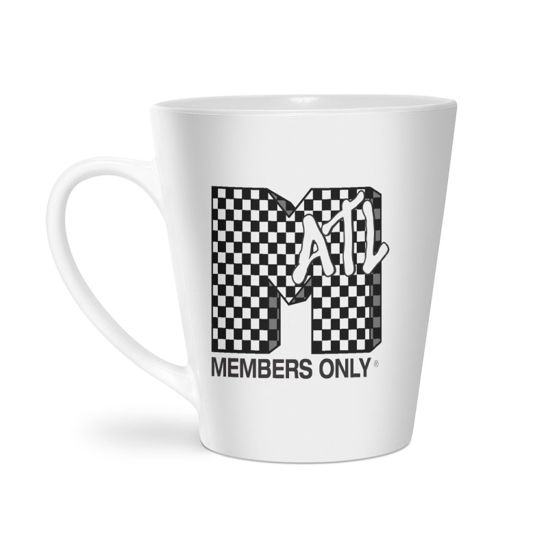 I want my Members Only- Checker Accessories Latte Mug by Members Only ATL Artist Shop