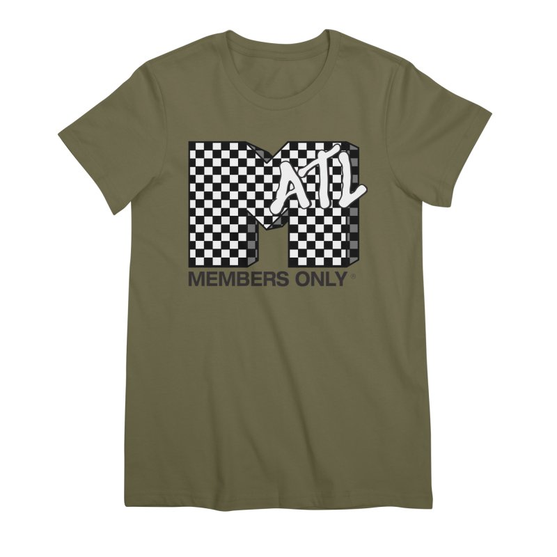I want my Members Only- Checker Women's Premium T-Shirt by Members Only ATL Artist Shop