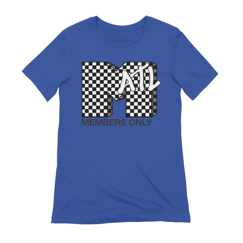 I want my Members Only- Checker Women's Extra Soft T-Shirt by Members Only ATL Artist Shop