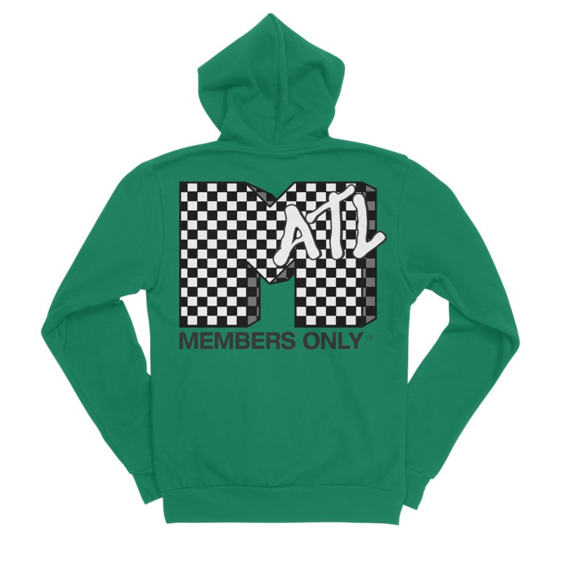 I want my Members Only- Checker Men's Sponge Fleece Zip-Up Hoody by Members Only ATL Artist Shop